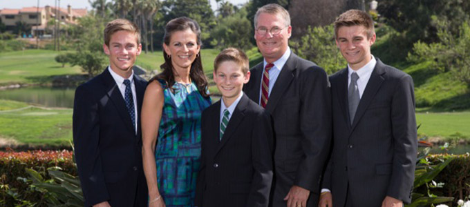 The Rosenberg Family: (left to right) Jack, Ellen, Max, Mike, and Joe