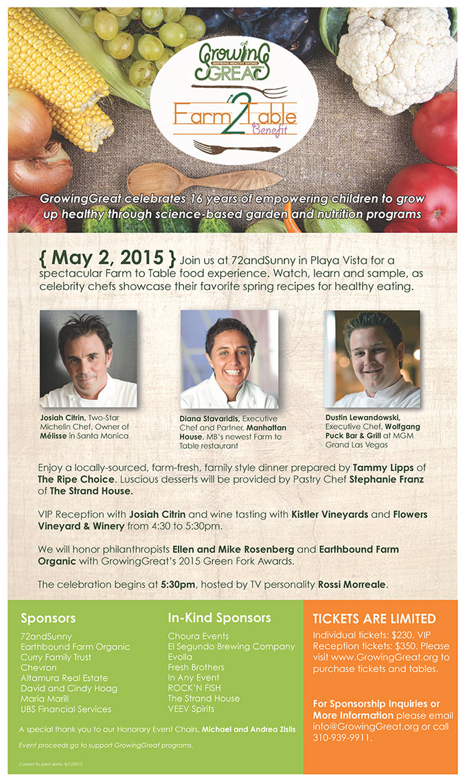 Farm to Table 2015