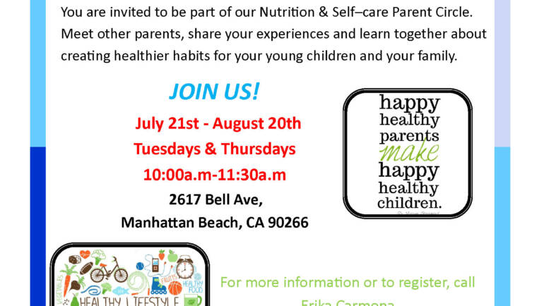 Nutrition & Self–care Parent Circle