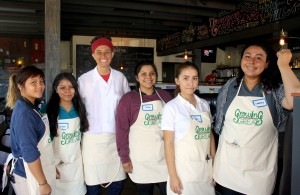 Chef D and ECHS students (1)